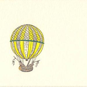 Ballonfahrer kleine Karte