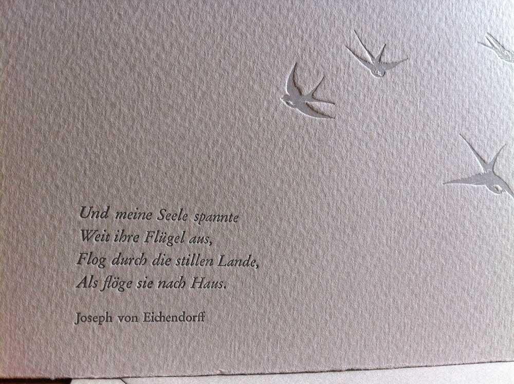 Beileidswunsche Fur Karten: Trauerkarte Mit Schwalben